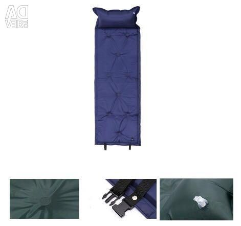 Αυτο-φουσκωμένο τουριστικό στρώμα με μαξιλάρι