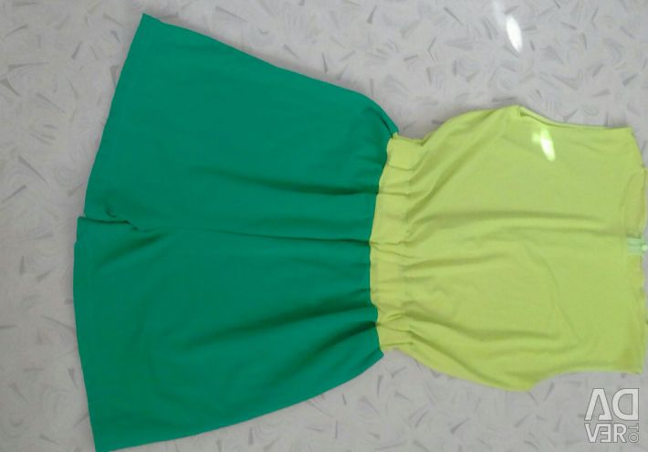 We sewed to order, a bright jumpsuit.