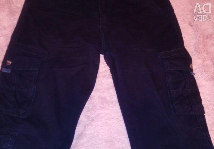 Джинси-брюки з карманамі54-56р