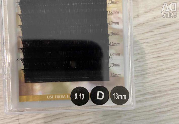 False eyelashes D 13 mm 0.10