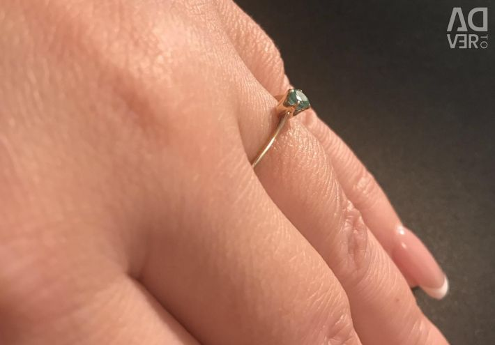Classic.Ring gold with nat. stone Emerald.