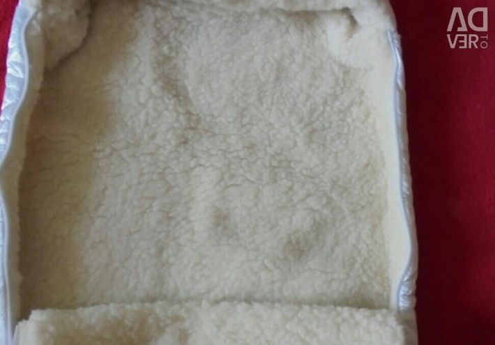 Winter fur envelope for statement with clothes