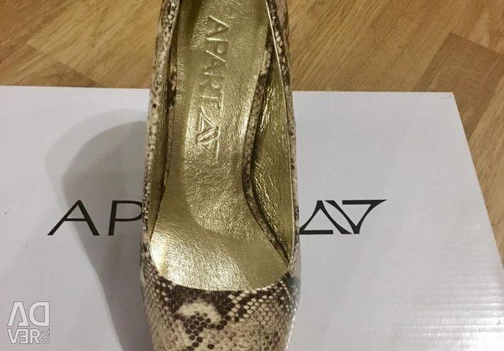Pantofi noi separați de piele 100%