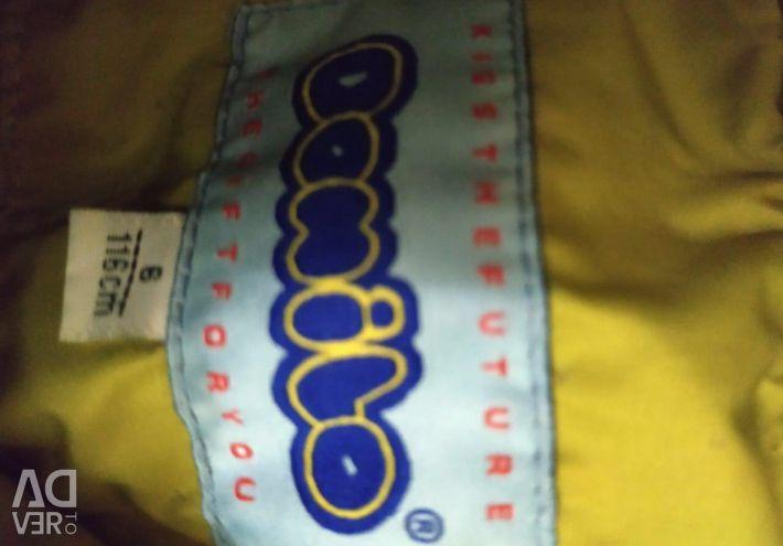 Easy button jacket, Turkey, 116 cm, lemon