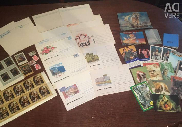 Timbre sovietice, plicuri, calendare de preaplin