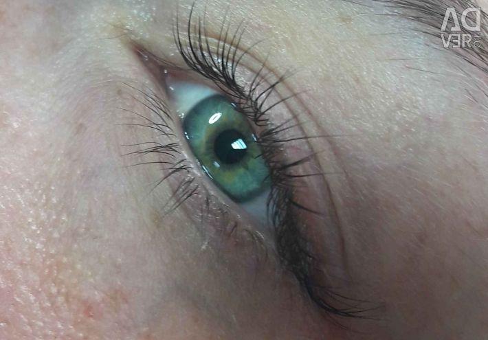 Lamination eyelashes / Velvet / Filler