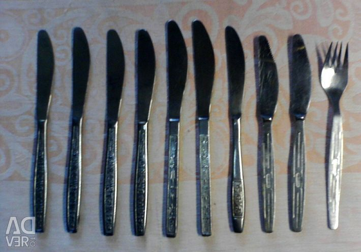 Table knives from the times of the USSR.