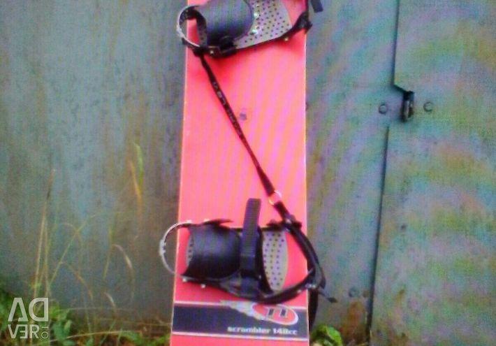 Сноуборд в комплекті з ботами 148