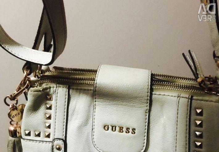 Τσάντα Guess δέρμα original + klach ως δώρο! Θα στείλω