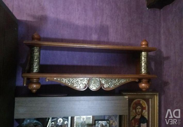 Shelf for icons