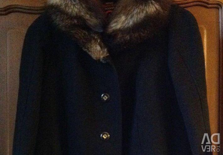 New Women's Winter Woolen Coat with Fur