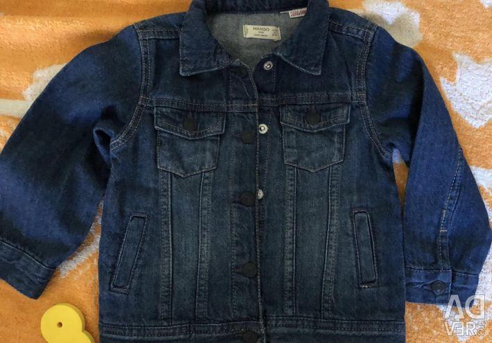 Mango kids.1,5-2g. Jeans kurtka.r86-92.Novy.