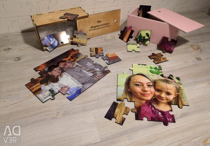 Puzzle-uri din lemn (orice imagine)