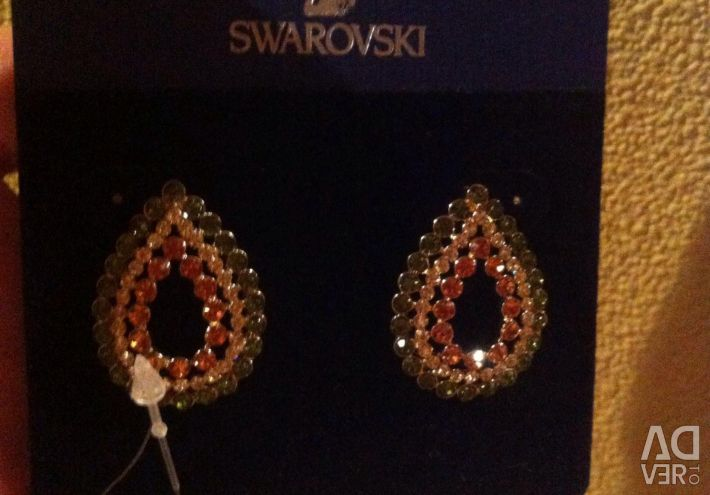 New Droplets earrings with Swarovski crystals
