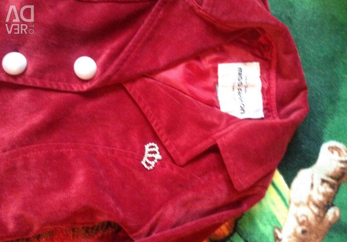 Children's jacket. Micro-velvet