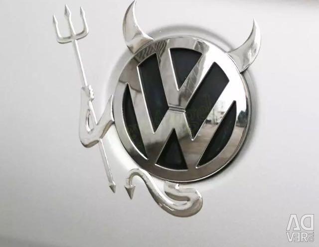 Sticker on the car