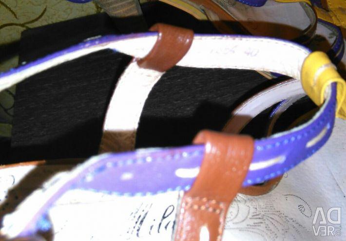 Sandale colorate