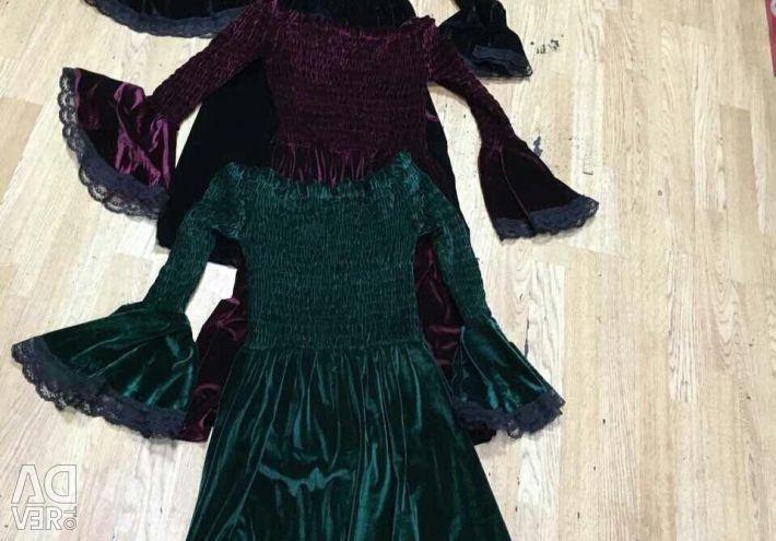 Elbise kadife yeni