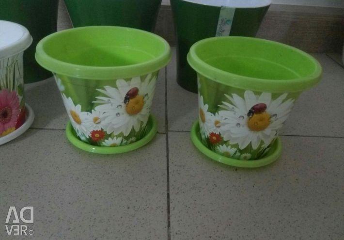 Flowerpots 7 pieces