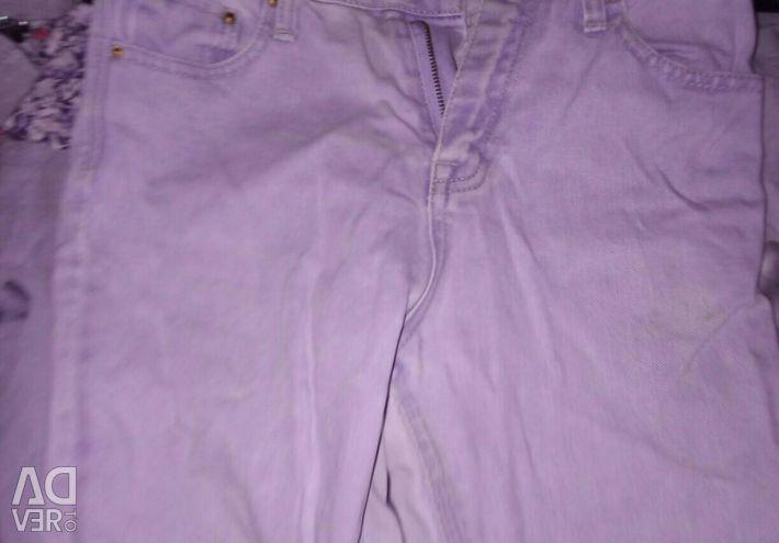 Отличные джинсы !голубая джинса