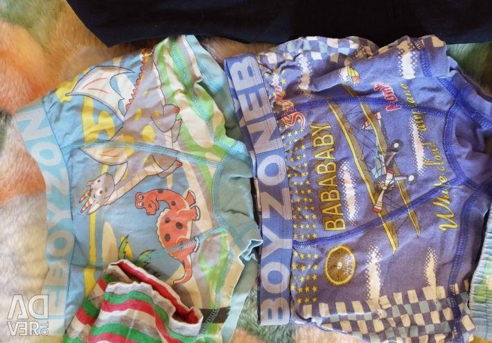 Ένα πακέτο ρούχων για ένα αγόρι 110 / 128cm