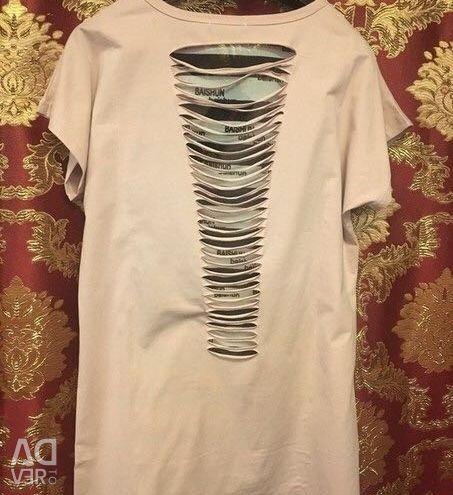 Μπλουζάκια με ένα πλέγμα στο πίσω μέρος, βαμβάκι, καινούριο