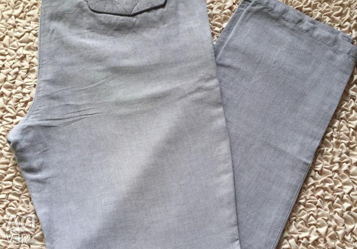 Льняные брюки ZARA