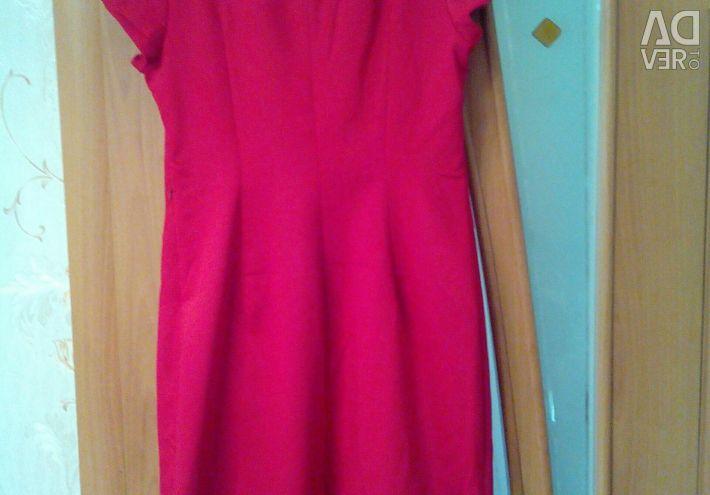 New dress. Bright scarlet
