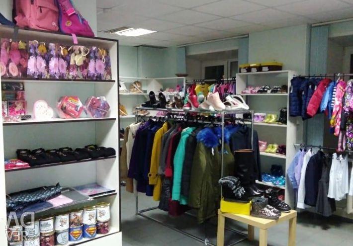 Rental of shelves, hangers, placement