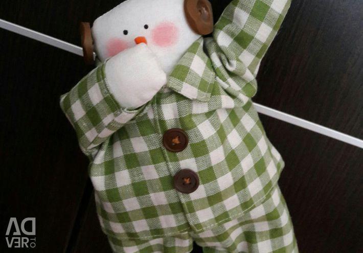 Snowman in pajamas