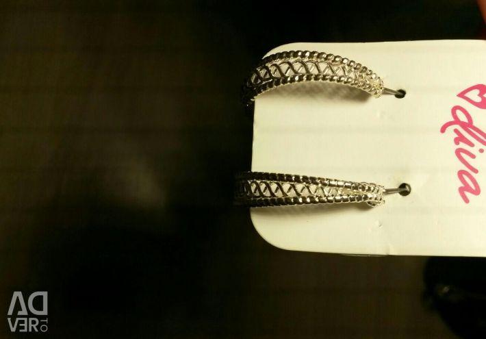 Серьги-кольца новые