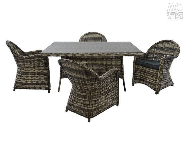 5MM RATTAN GREY HM10170 SET SET