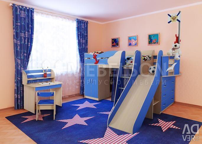 Tabelul și scaunul pentru copii (Set de Sailor)