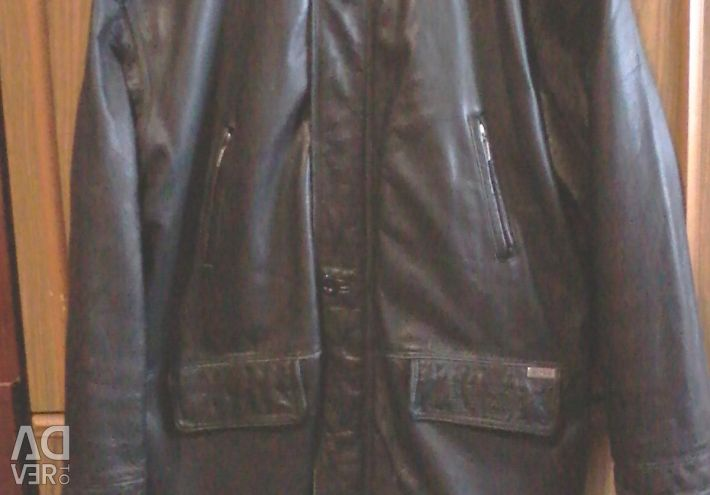 MEN'S CLEAN LEATHER JACKET BRAND -BOSS !!!