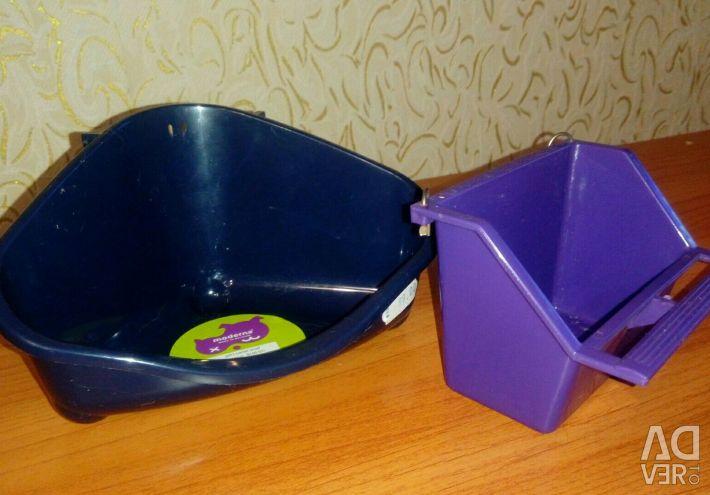 Τροφοδοσία και γωνιακό τουαλέτα