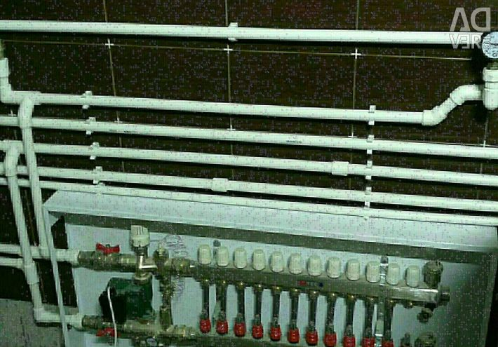 Heating. Water supply. Water heated floors.