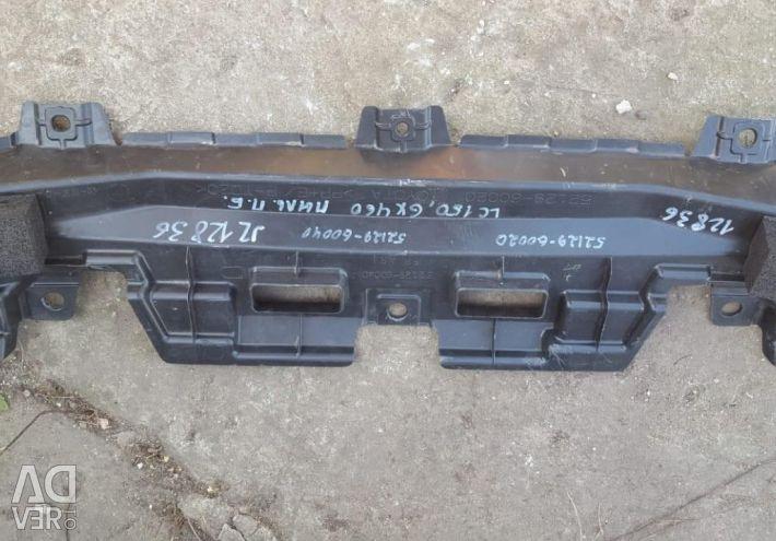 Trim for bumper protection front Toyota Prado150.