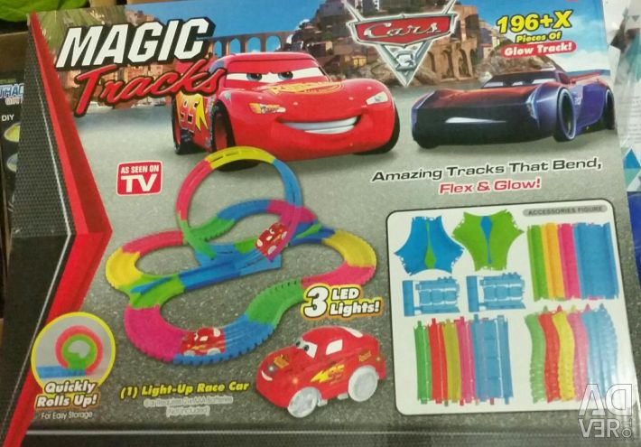 Magic Track Cars 196 μέρη.