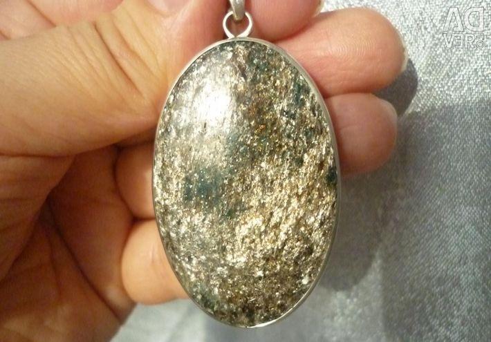 Pandantiv Fuchsite (Argint)
