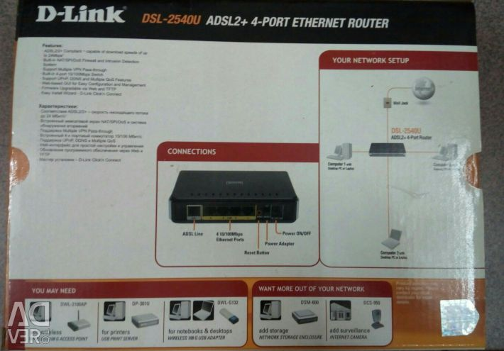 Gift adsl router