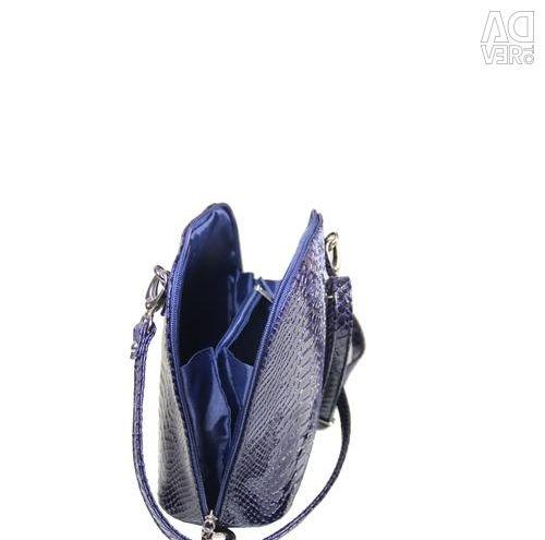 Bag Python gloss / dark blue