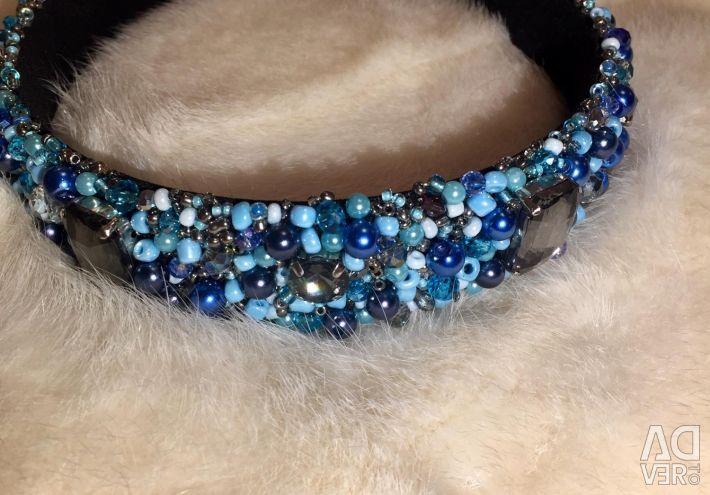Handmade Bezel Crown Diadem