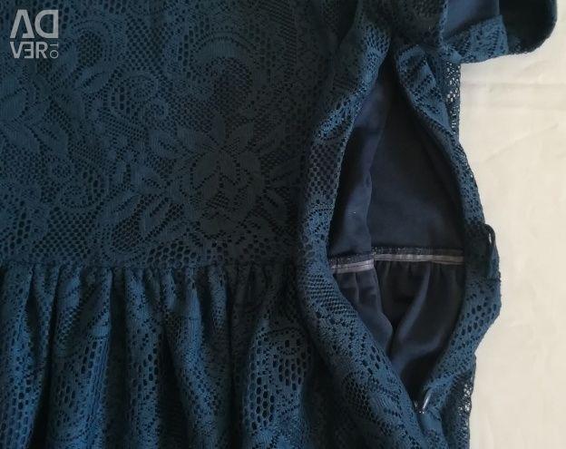 Rochie din dantelă albastră, p-44 (46)