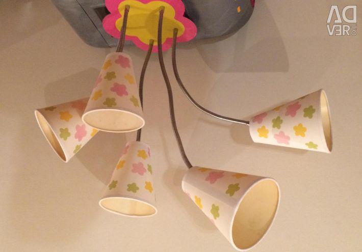 Candelabru pentru copii și lampă cu lampă Odeon