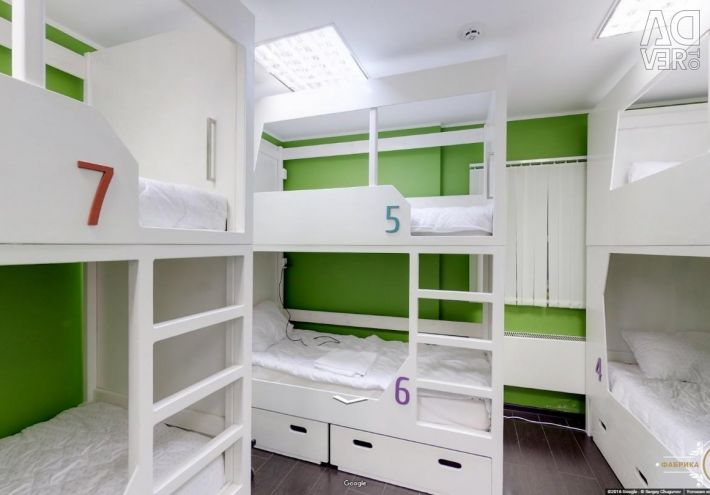 Ліжка для хостелу. Двоярусні ліжка.