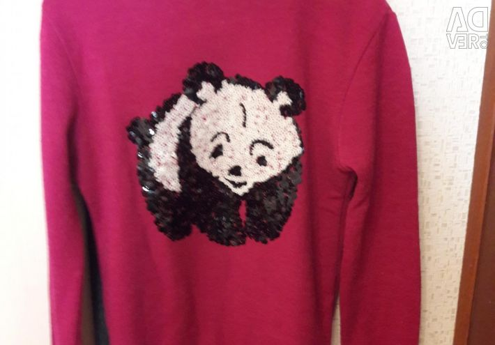 Turtleneck warm with a panda