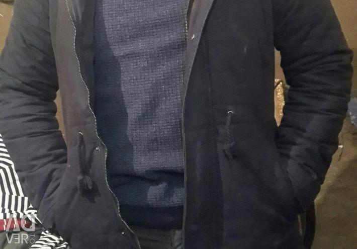 Men's jacket with fur