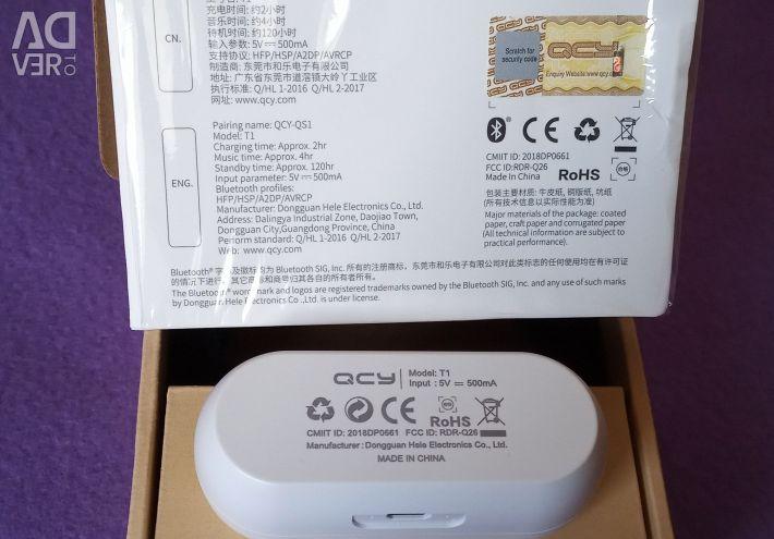 Yeni 🔥 BT5.0 TWS Kulaklık QCY QS1 T1 Beyaz Yeni