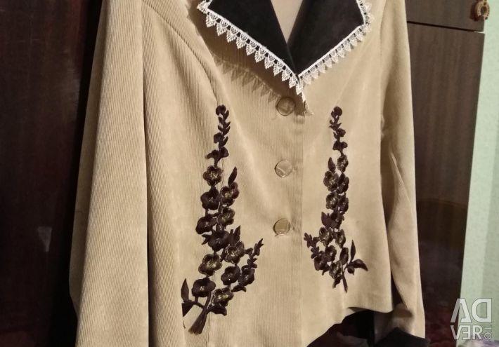 Women's jacket light vilvet