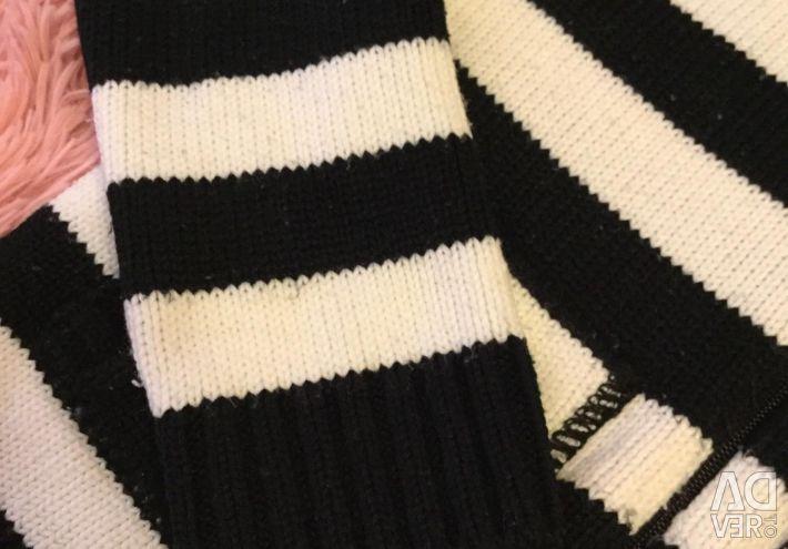 Tricotat pulover cu fermoar